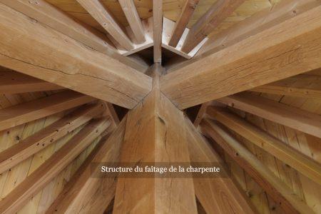 Structure du faîtage de la charpente